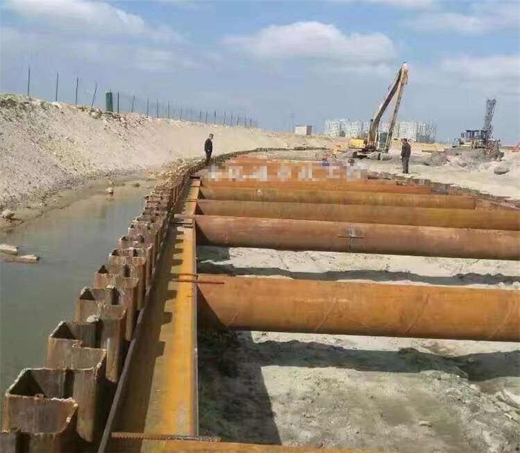 桥梁工程钢板桩倒塌处理施工方法